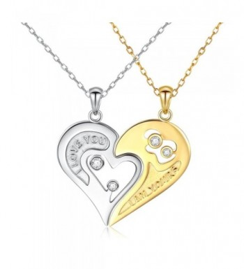 DAOCHONG Sterling Silver Couple Necklace
