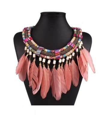 XY Fancy Feather Necklace Statement