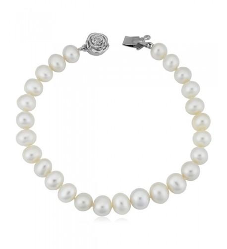 Sterling Freshwater Cultured Bracelet 7 7 5mm