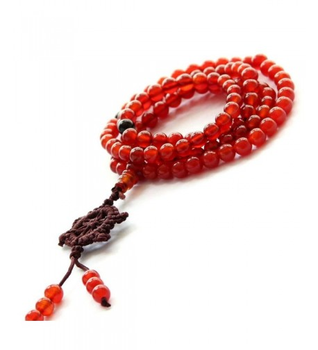 Agate Beads Buddhist Prayer Necklace