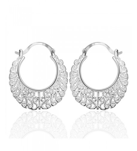 Cos2be Silver Plated Earrings Hollow silver