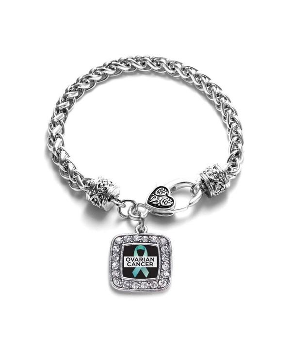 Ovarian Awareness Classic Silver Bracelet