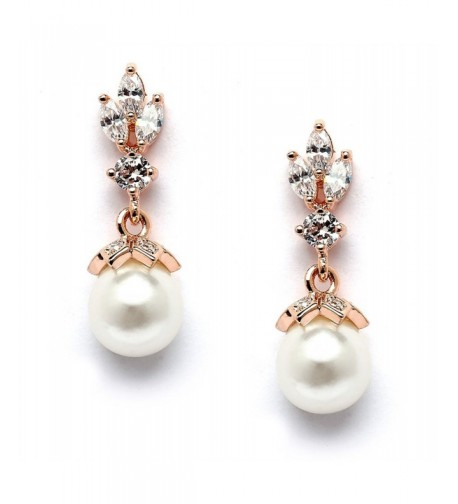 Mariell Wedding Earrings Pearl Marquis