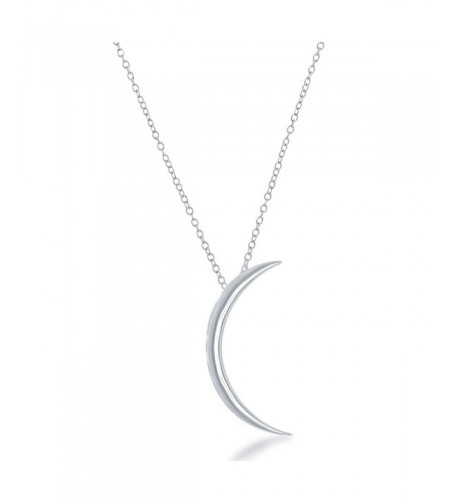 Beaux Bijoux Sterling Crescent Necklace