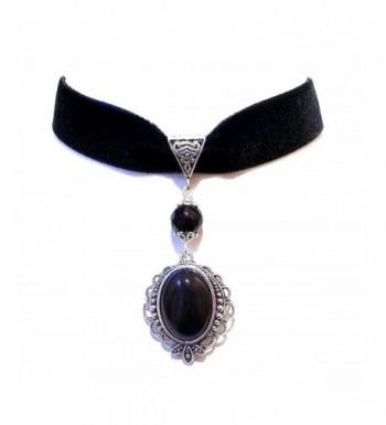 Calypso Black Velvet Gothic Necklace