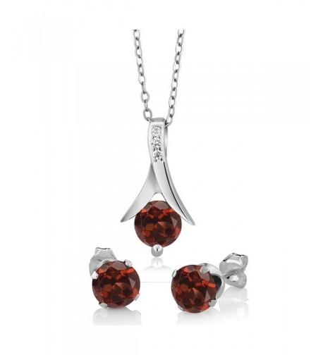 Sterling Silver Garnet Earring Pendant