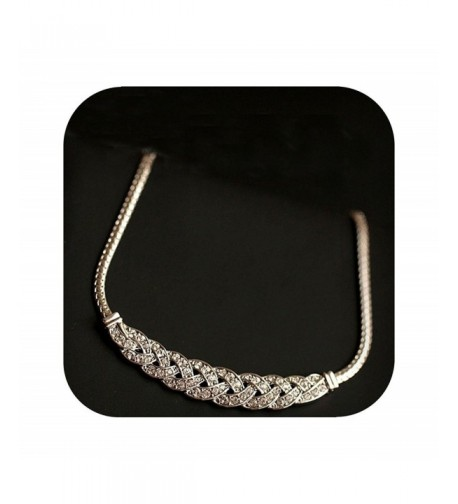 Exquisite braided Necklace Serpentine Defiro