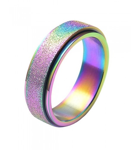 PAMTIER Womens Stainless Wedding Rainbow