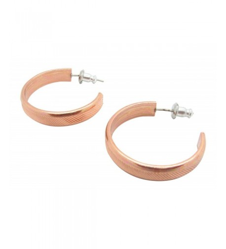 Copper Hoop Earrings CE097 diameter