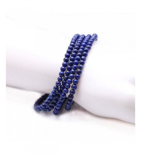 Stunning Stackable Simulated Lapis Stretchy Bracelet