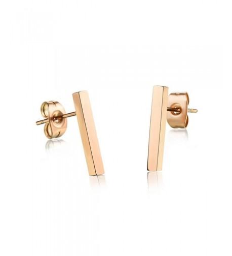 Plated Stainless Earring Earrings Ge314Long