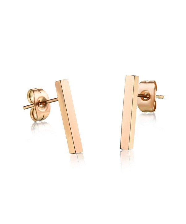Plated Stainless Earring Earrings Ge314Long