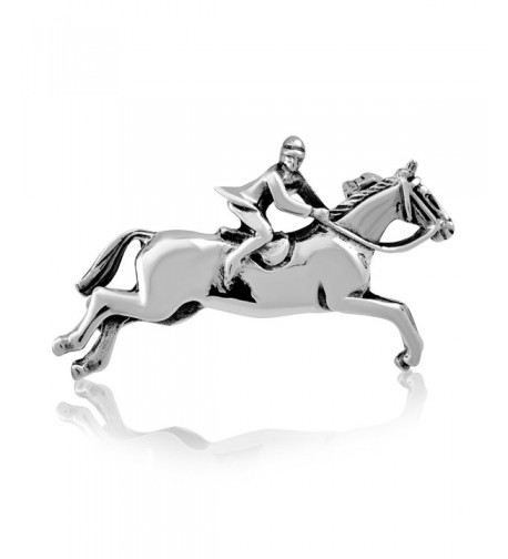 WithLoveSilver Sterling Jumping Horseshoe Equestrian