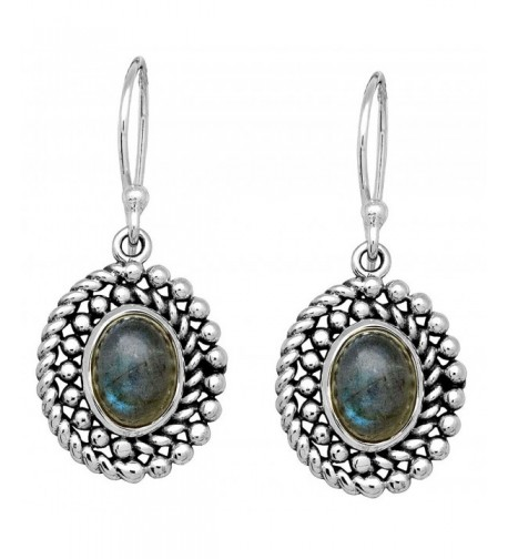 Labradorite Dangle Sterling Earrings Jewelry