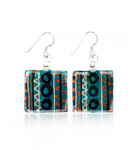 Sterling Silver Painted Multi Colored Earrings