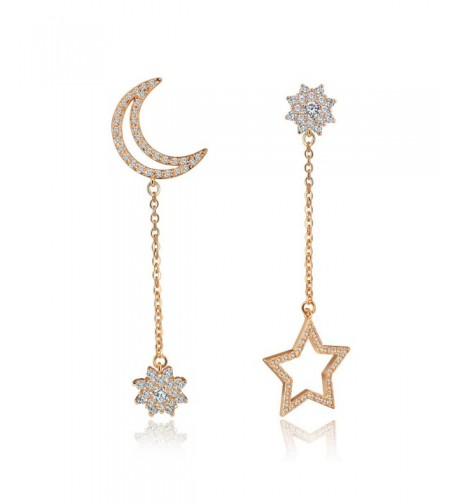Platinum Zirconia Earings Wedding Jewelry