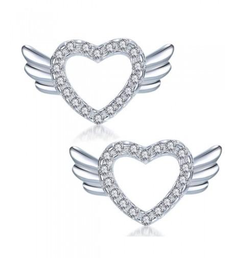YAXING Sterling Silver Angel Earrings