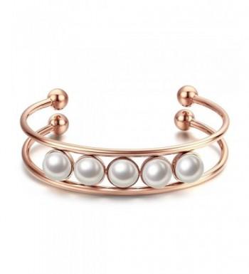 Caperci Plated Stainless Beaded Bracelet