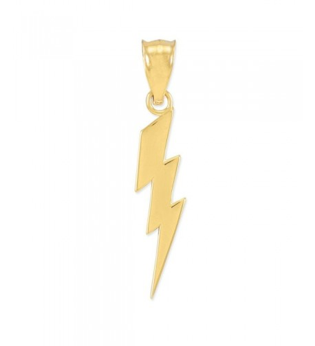 Polished Yellow Lightning Charm Pendant