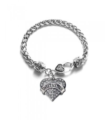 Sixteen Classic Silver Crystal Bracelet