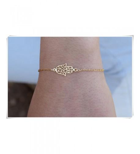 sea maiden Sideways bracelet Hamsa bracelet Gold protection