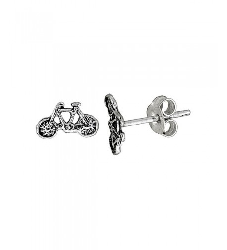 Tiny Sterling Silver Bicycle Earrings