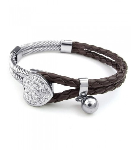 KONOV Leather Stainless Bracelet Braided