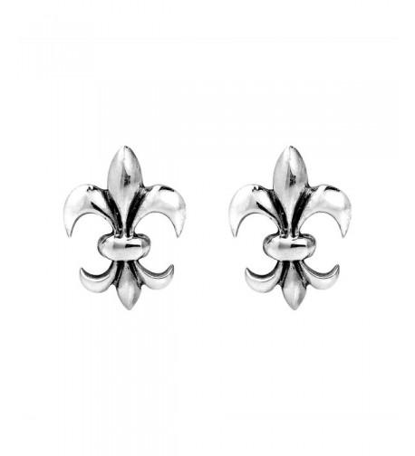 Charming Symmetrical Fleur Sterling Earrings