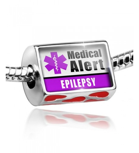 Hearts Medical Alert Purple Epilepsy