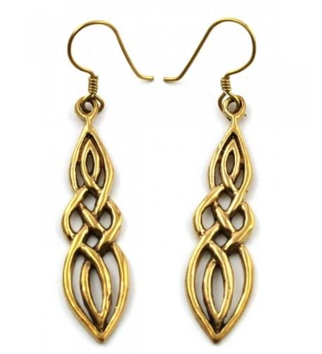 Filigree Twisted Earrings Vintage Thailand
