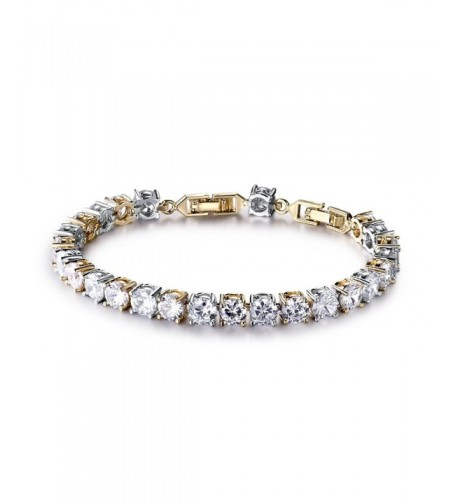 GULICX Two Tone Wedding Crystal Bracelet