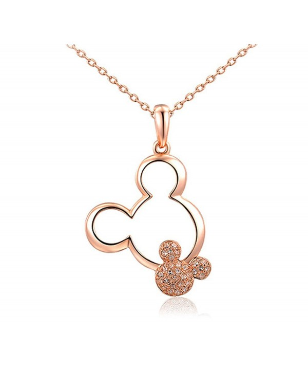Shining Life rose golden Plated necklaces