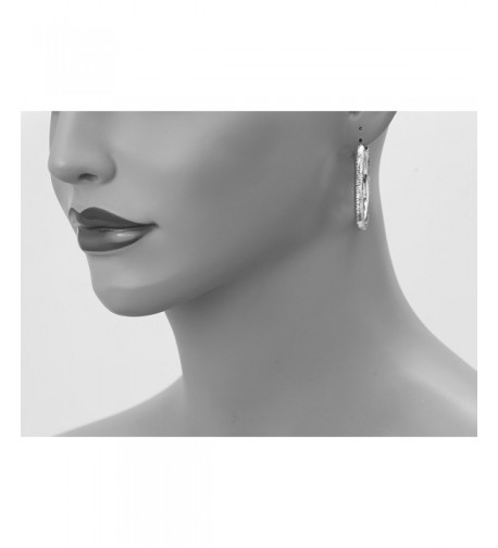 Sterling Silver Diamond cut Ridged Earrings