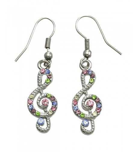 Colorful Earrings Multicolor Rhinestones Fashion