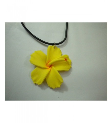 Hawaiian Hibiscus Pendant Necklace Costume
