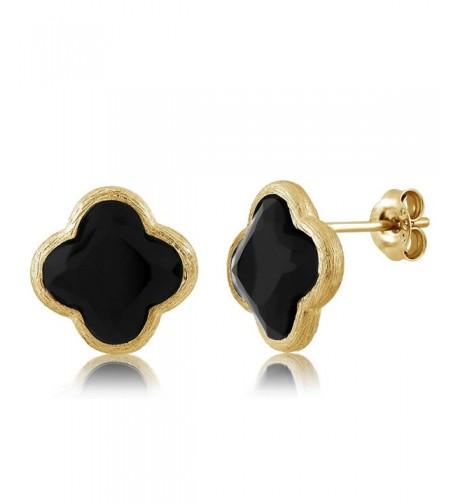 Sterling Silver Flower Diamond Earrings