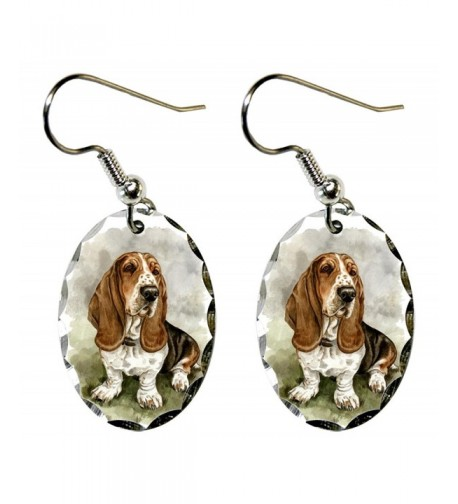 Canine Designs Basset Scalloped Earrings