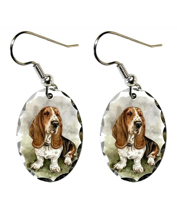 Canine Designs Basset Scalloped Earrings