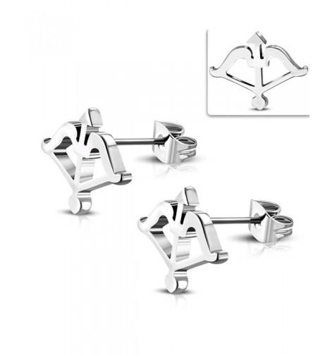 Stainless Steel Archery Arrow Earrings