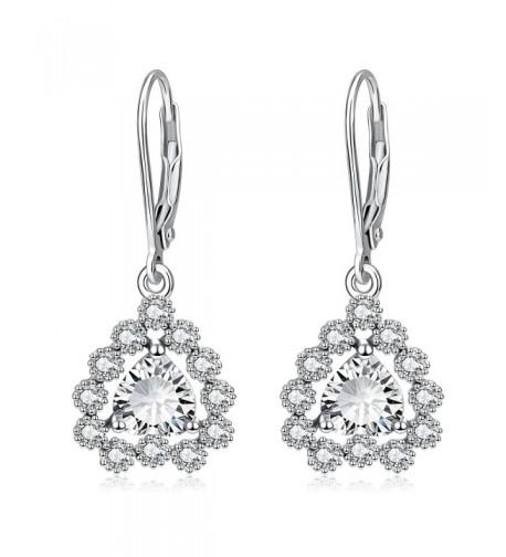 Sterling Silver Heart Earrings Dangle