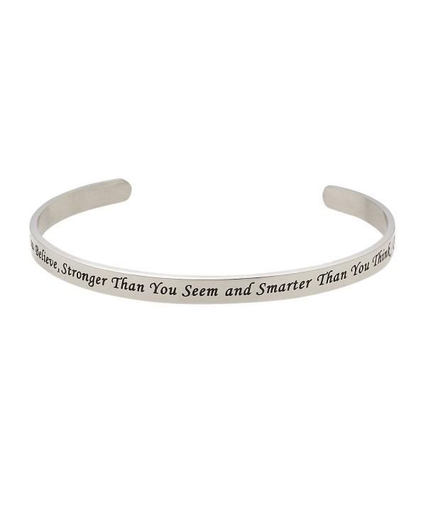 Believe Stronger Christopher Inspirational Bracelet