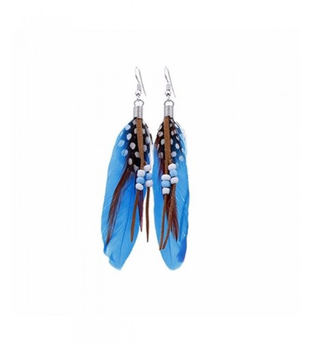 Becoler Feather Earrings Fashion Jewelry