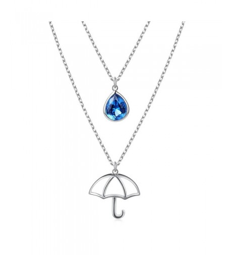 Sterling Silver Teardrop Umbrella Jewelry