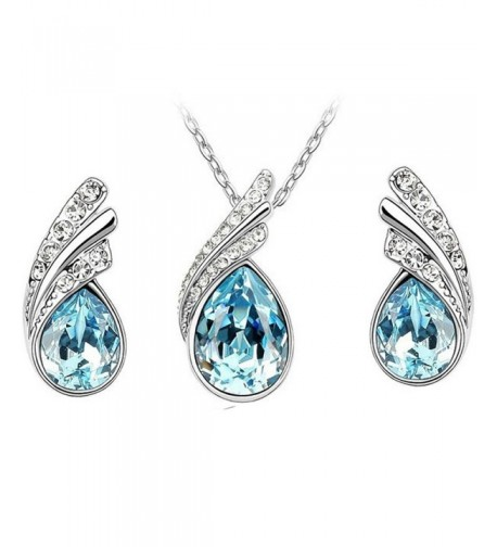 MAFMO Beautiful Platinum plated Necklace Earrings