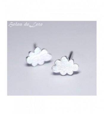 Helen Lete Frosted Sterling Earrings