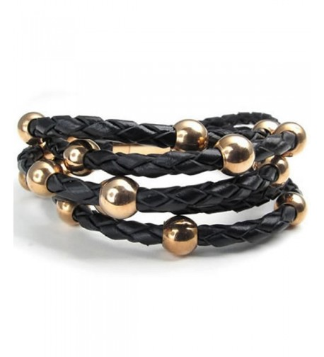 KONOV Stainless Braided Bracelet Rose Gold