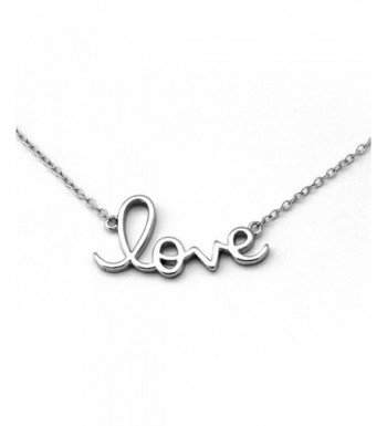 Sterling Silver Rhodium Pendant Necklace