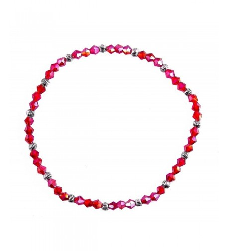 Ha Crystal Bead Anklet Iridescent
