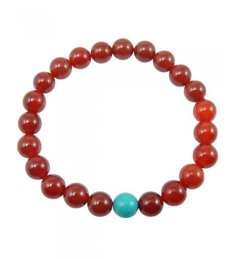 Carnelian stretch bracelet meditation Turquoise