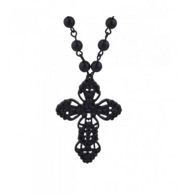 Lux Accessories Classic Pendant Necklace